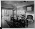 Dining room of the Stanford campus home of the Hoovers, 1920s