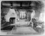 Living room of the Stanford campus home of the Hoovers, 1920s