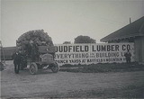 Dudfield Lumber Company yard and truck