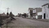 Mayfield's Main Street looking northwest from Sheridan Street, 1886.