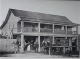 Velanti's Meat Market on Lincoln Street, Mayfield, 1874.