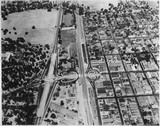Aerial view of University Avenue Underpass, 1941