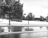 Palo Alto City Hall in the snow, 1962