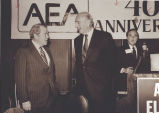 William Hewlett and David Packard at the AEA Meeting in Santa Clara
