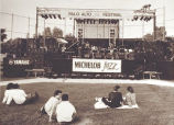 Palo Alto Jazz Festival stage and crowd, 1987