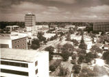 Aerial view of downtown Palo Alto, 1984