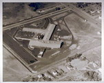 Aerial view of the first Varian building in Stanford Industrial Park, 1952