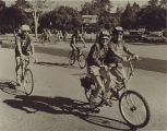Tour de Peninsula bicyclists at the starting line, 1990