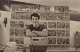 Lee Hester, owner of Lee's Comics, 1985