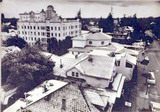 View of Palo Alto rooftops from Northern California Savings building, 1975