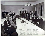 Dinner in honor of retiring postmaster W.H. Kelly, 1924