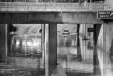 Flood Closes Underpass, 1973