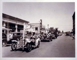 Automobile parade on University Avenue, 1940